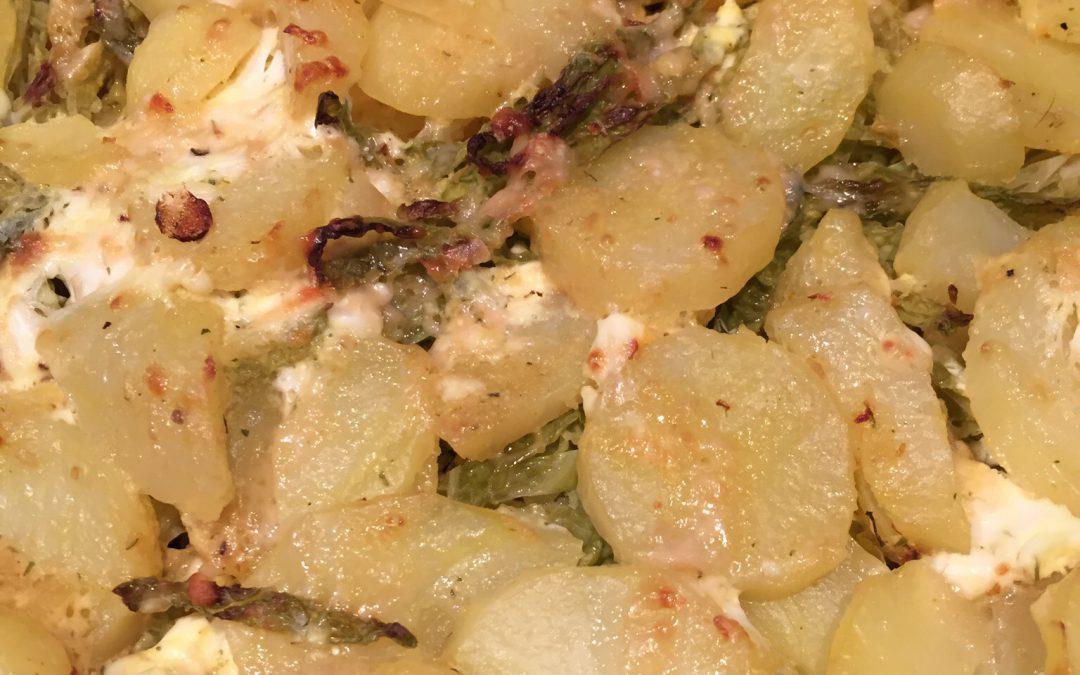 Basischer Kartoffelauflauf mit Wirsing